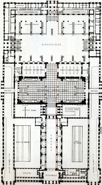 penn station floor plan