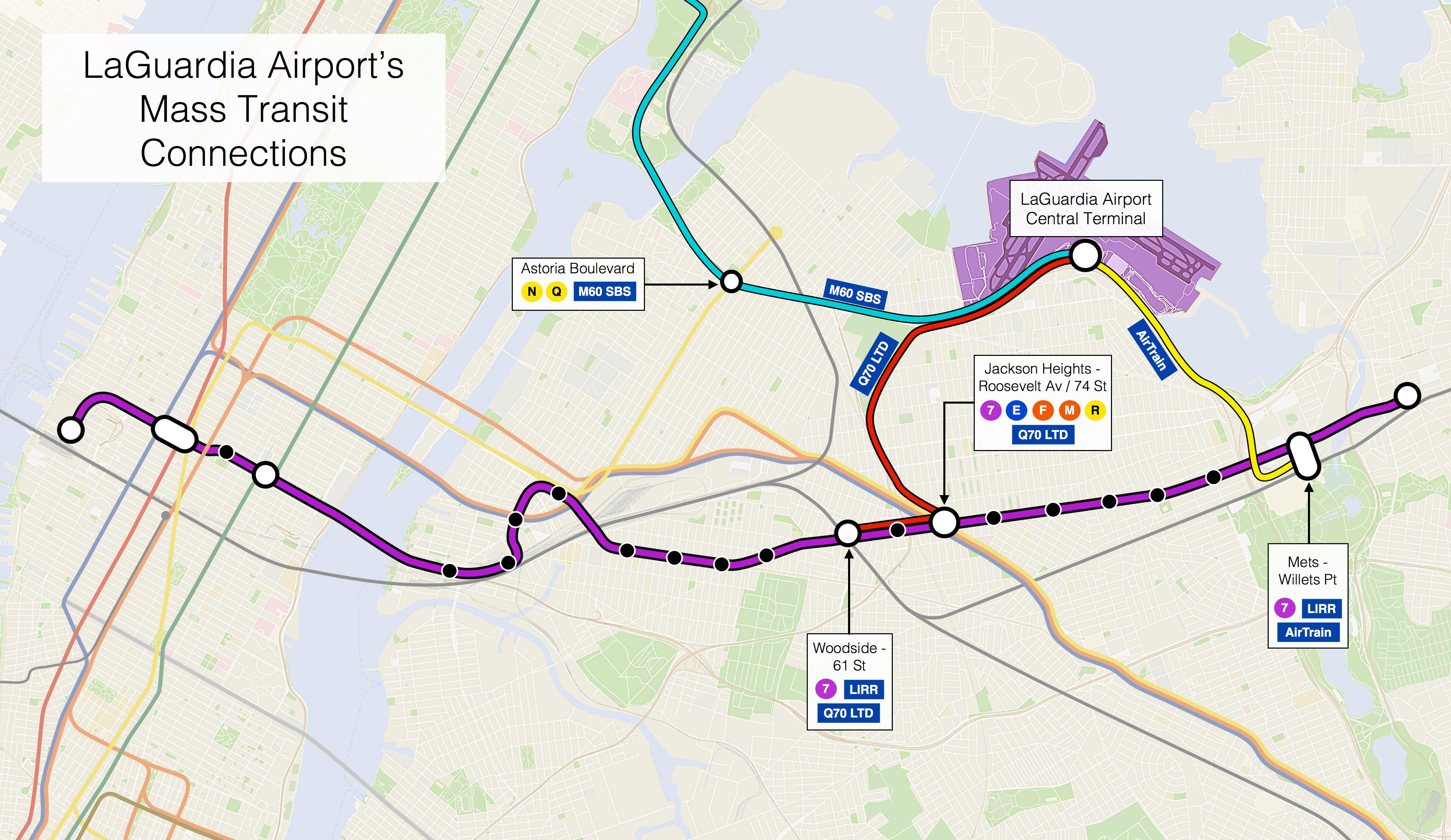 Laguardia Airport Subway Map.Real Transit
