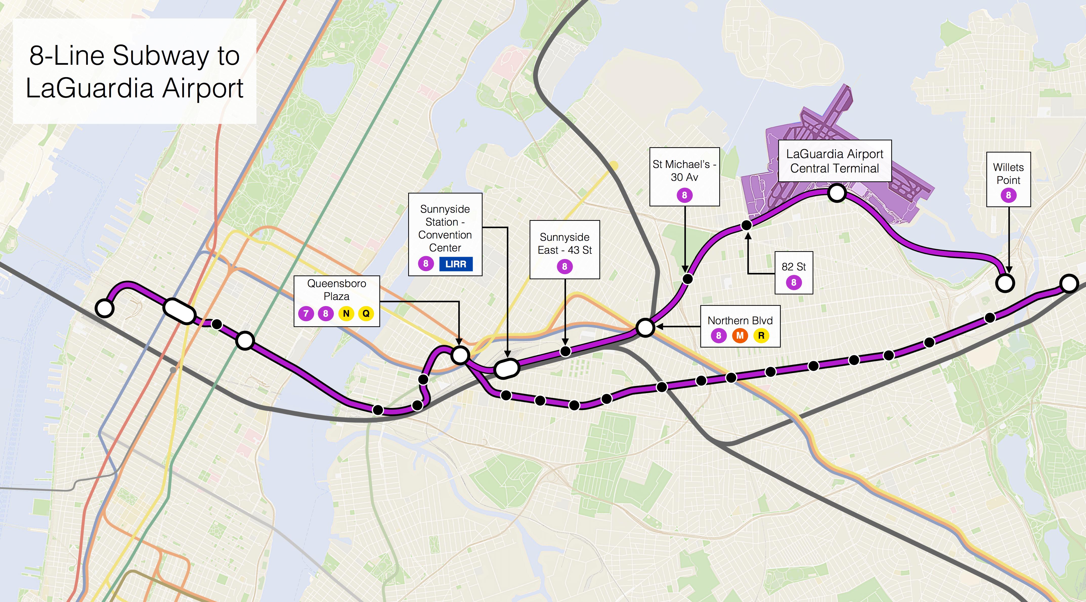 Real Transit - Nyc map laguardia